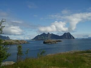 The Lofoten Islands in summer