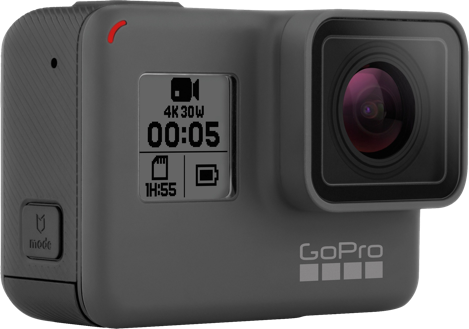 A GoPro HERO5 Black 4K Action Camera.